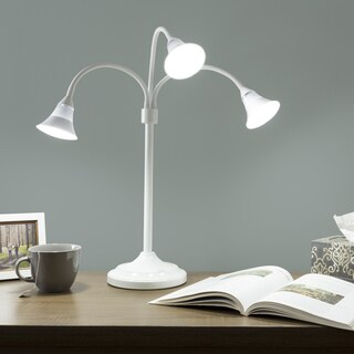 3 Head Desk Lamp, LED Light with Adjustable Arms, Touch Switch and Dimmer by Windsor Home