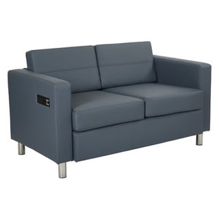 Porch & Den Canal Loveseat with Dual Charging Station in Dillon Fabric K/D