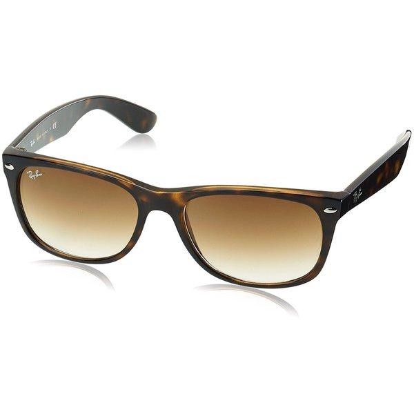 d1125a510f6b Ray-Ban New Wayfarer RB2132 Unisex Tortoise Frame Light Brown Gradient 52mm  Lens Sunglasses