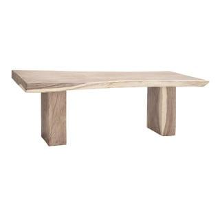 Benzara Rectangular Shape Brown Teak/Wood Dining Table
