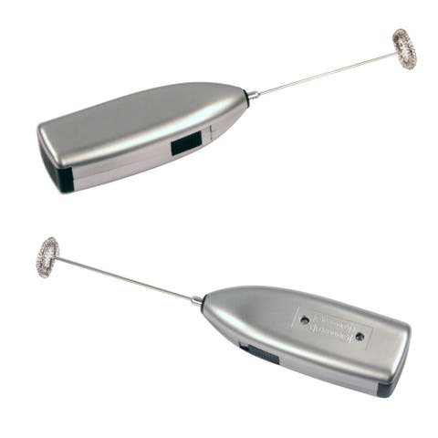 Knox Handheld Milk Frother Silver (set of 2)