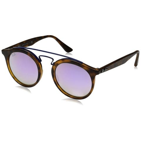 Ray-Ban Gatsby I RB4256 Unisex Tortoise Frame Lilac Gradient Mirror Lens Sunglasses