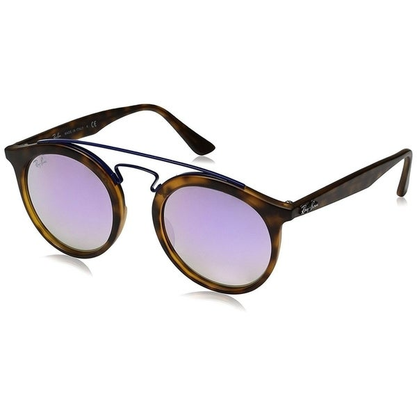 ed4a2f600a Ray-Ban Gatsby I RB4256 Unisex Tortoise Frame Lilac Gradient Mirror Lens  Sunglasses