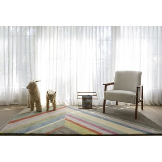 Novogratz by Momeni Delmar Asymmetric Stripe Wool Rug (8' x 10')