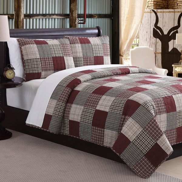 Mountain Ridge Ridgecrest Patchwork Cotton 2 & 3 Quilt Set