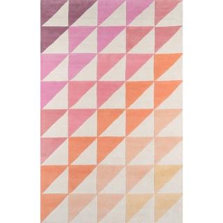 "Novogratz by Momeni Delmar Asymmetric Stripe Wool Rug (3'6"" x 5'6"")"