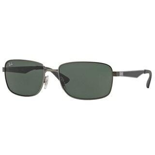 Ray-Ban RB3529 Men's Gunmetal Frame Polarized Green Classic 58mm Lens Sunglasses