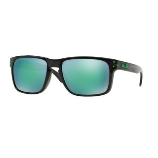 Oakley Holbrook 0OO91026955 Unisex Black Frames Jade Iridium Polarized Lenses Sunglasses