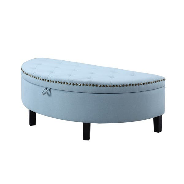 Super Shop Chic Home Kelly Button Tufted Storage Ottoman Light Gmtry Best Dining Table And Chair Ideas Images Gmtryco