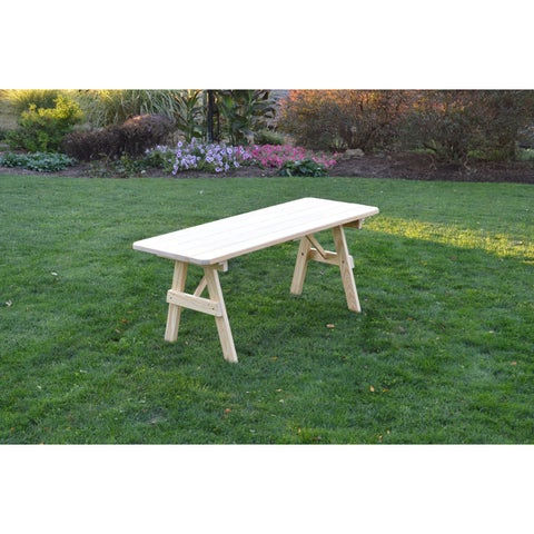 Pressure Treated Pine Unfinished Picnic Table ONLY - 4,5,6 or 8 Foot