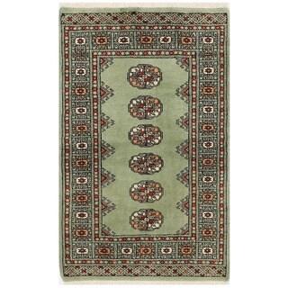 Herat Oriental Pakistani Hand-knotted Bokhara Wool Rug (2'5 x 4')