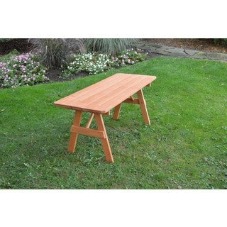 Pressure Treated Pine Picnic Table ONLY Cedar Stain - 4,5,6 or 8 Foot (4 options available)