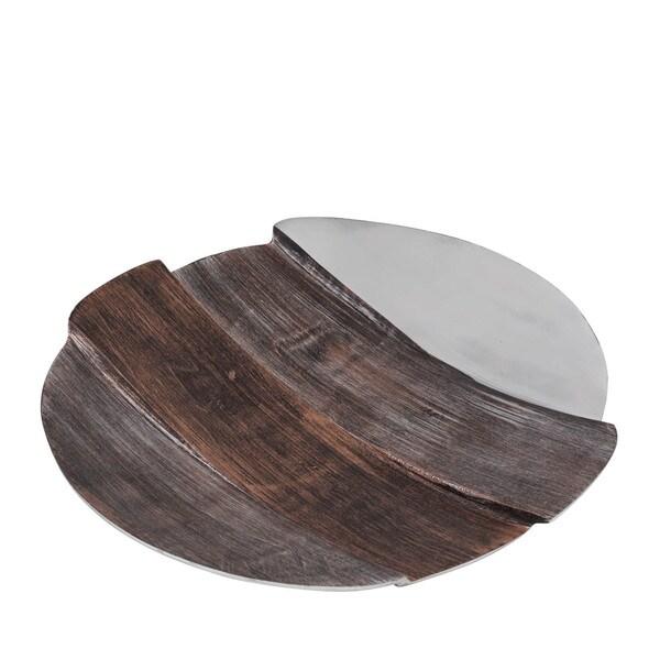Tri-Tone Round Aluminum Plate- Large