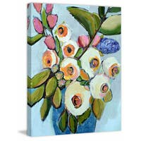 Le Bouquet' Painting Print on Wrapped Canvas - Pink