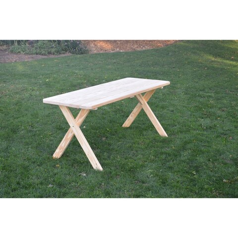 Pressure Treated Pine Unfinished Cross Leg Picnic Table ONLY - 4, 5, 6,or 8 Foot