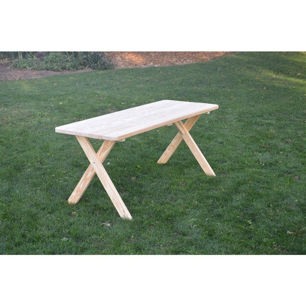 Pressure Treated Pine Unfinished Cross Leg Picnic Table ONLY   4, 5, 6,