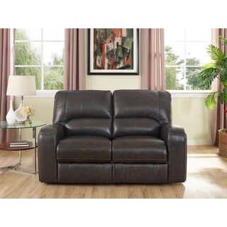 Hydeline by Amax Newcastle Top Grain Leather Power Reclining Loveseat