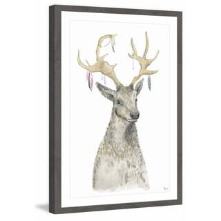 'Adorned Reindeer' Framed Painting Print