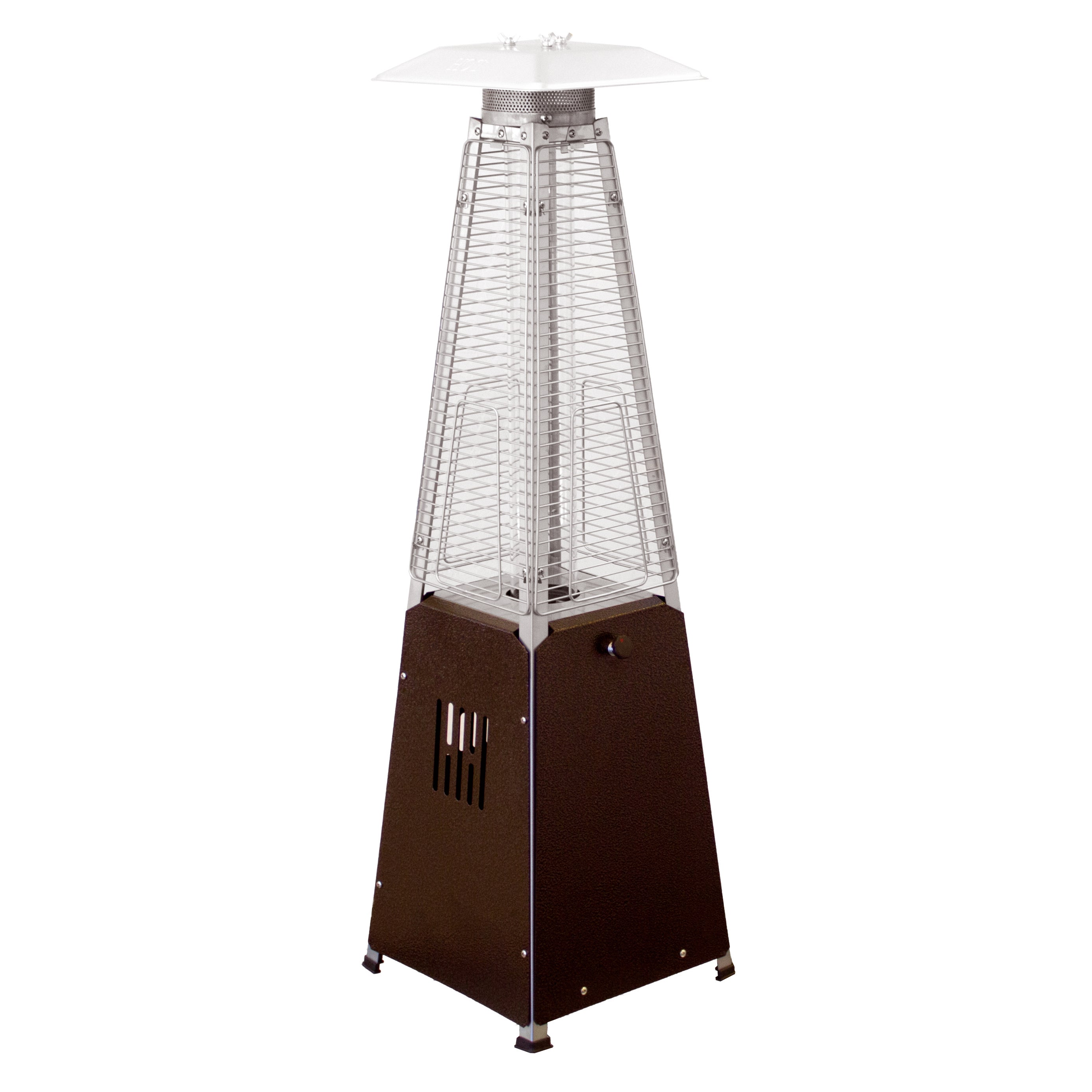 Hiland Glass Tube Table Top Patio Heater in Hammered Bron...