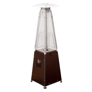 Hiland Glass Tube Table Top Patio Heater in Hammered Bronze