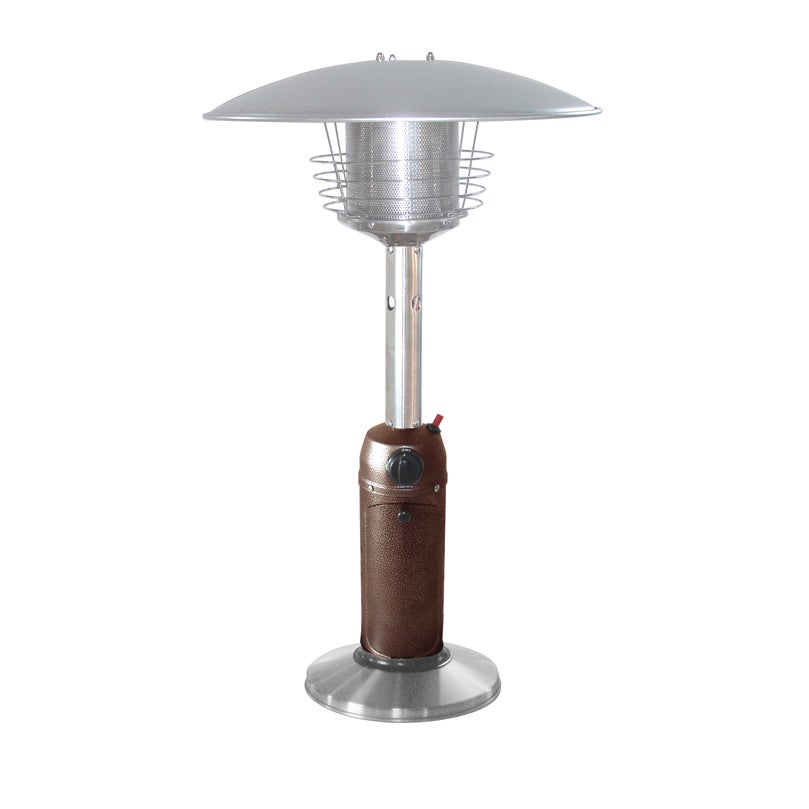 Hiland Table Top Patio Heater in Hammered Bronze and Stai...