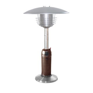 Hiland Table Top Patio Heater in Hammered Bronze and Stainless Steel