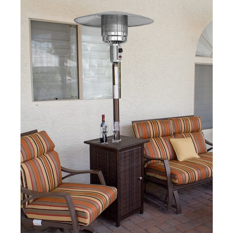 Hiland Wicker Patio Heater, Square Design