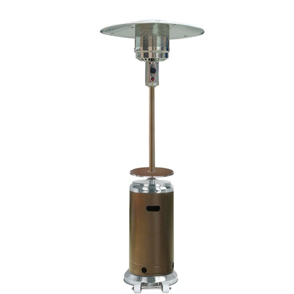 Hiland Hammered Bronze And Stainless Steel Patio Heater