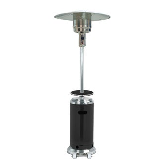 Hiland Black and Silver Aluminum Stainless Steel Patio Heater