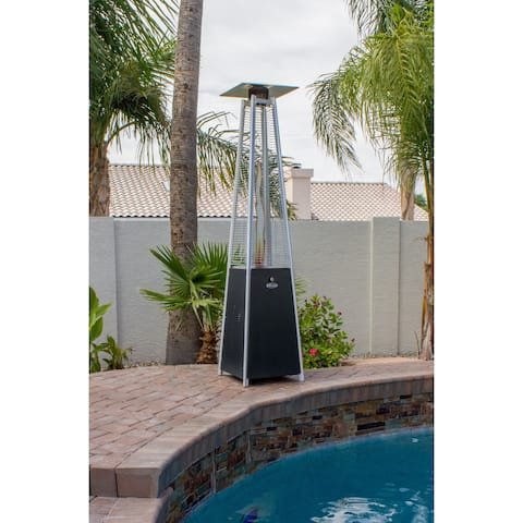 Hiland Black Glass Tube Patio Heater