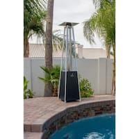 Hiland Black Glass Tube Patio Heater