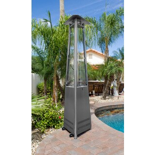 Hiland Commercial Glass Tube Patio Heater in Stainless Steel
