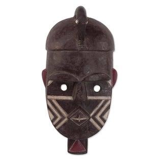 African Wood Mask, 'Kuba' (Ghana)