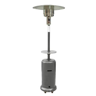 Hiland Patio Heater in Hammered Silver