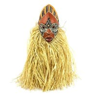 African Wood Mask, 'Dance For Peace' (Ghana)