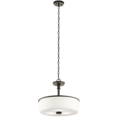 Clay Alder Home 3-light Olde Bronze Pendant/Semi-Flush Mount