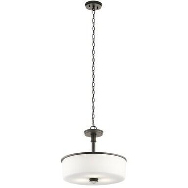 Kichler Lighting Joelson Collection 3-light Olde Bronze LED Pendant/Semi-Flush Mount