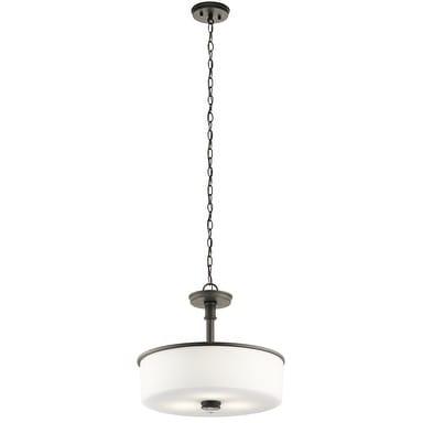 Clay Alder Home 3-light Olde Bronze LED Pendant/Semi-Flush Mount