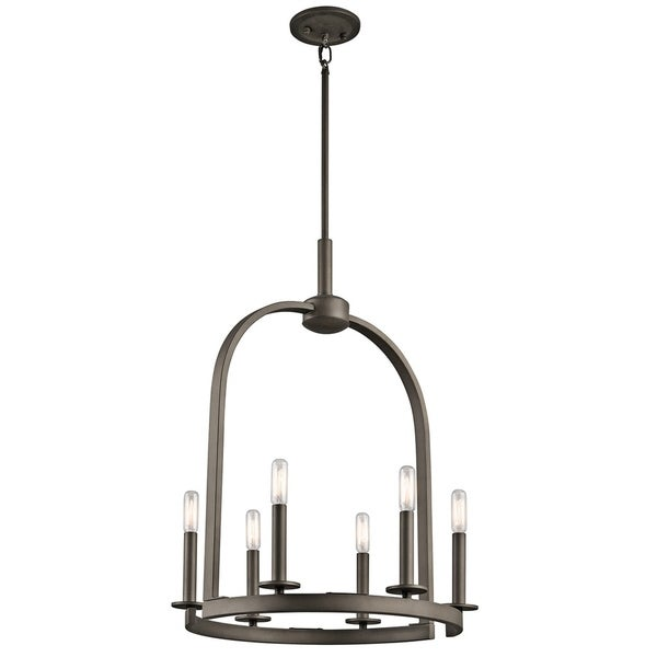 Kichler Lighting Daria Collection 6-light Olde Bronze Pendant - olde bronze