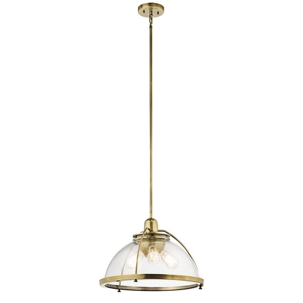 Kichler Lighting Silberne Collection 3-light Natural Brass Pendant - natural brass
