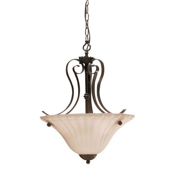 Kichler Lighting Willowmore Collection 2-light Tannery Bronze Inverted Pendant