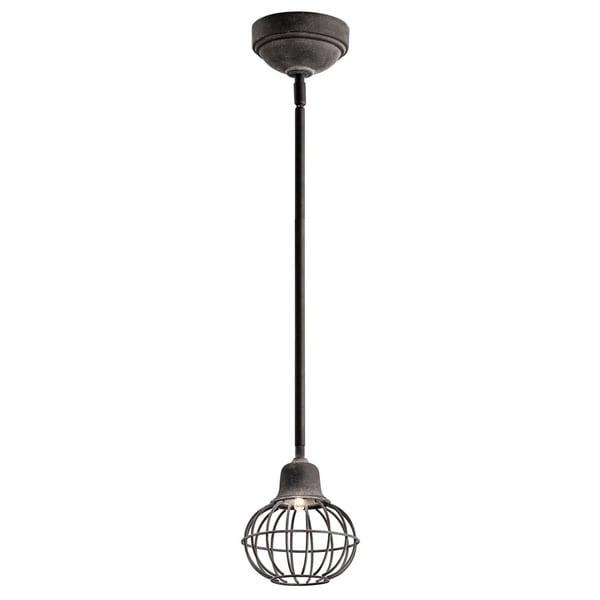 Kichler Lighting Lodge 1-light Weathered Zinc LED Mini Pendant