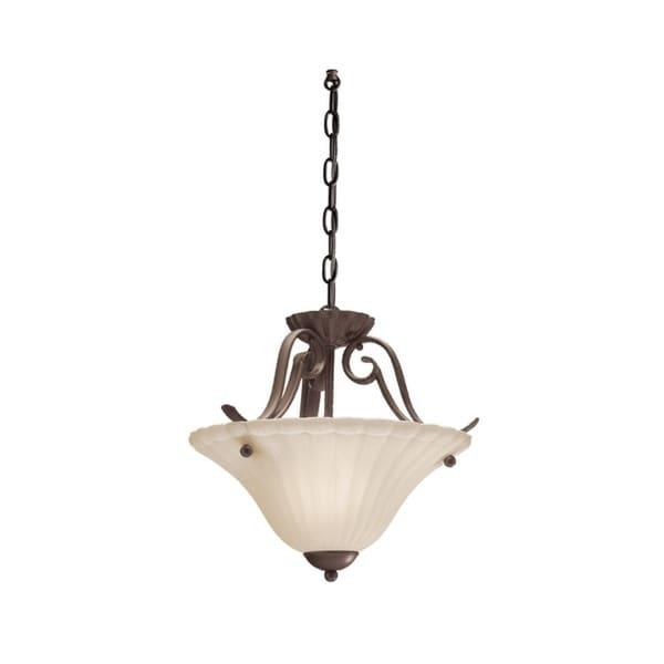 Kichler Lighting Willowmore Collection 1-light Tannery Bronze Pendant/Semi-Flush Mount