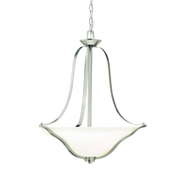 Kichler Lighting Langford Collection 3-light Brushed Nickel Inverted Pendant