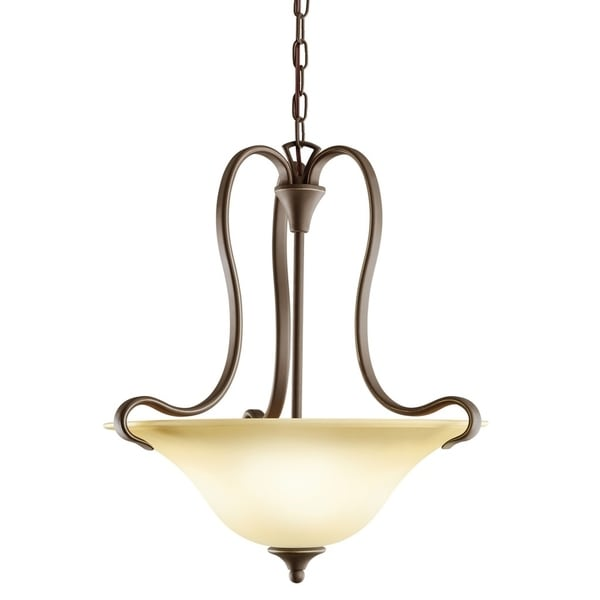 Kichler Lighting Wedgeport Collection 2-light Olde Bronze Fluorescent Inverted Pendant - olde bronze
