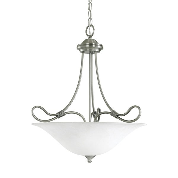 Kichler Lighting Stafford Collection 3-light Antique Pewter Inverted Pendant