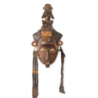 African Mask, 'Baule She Monkey' (Ghana)