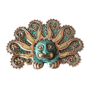 Copper and Bronze Mask, 'Moche Octopus' (Peru)