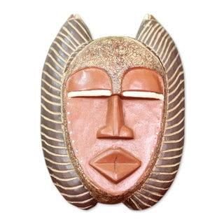Ghanaian Wood Mask, 'Good African Mother' (Ghana)