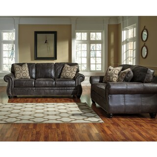 Benchcraft Breville Living Room Set in Faux Faux Leather
